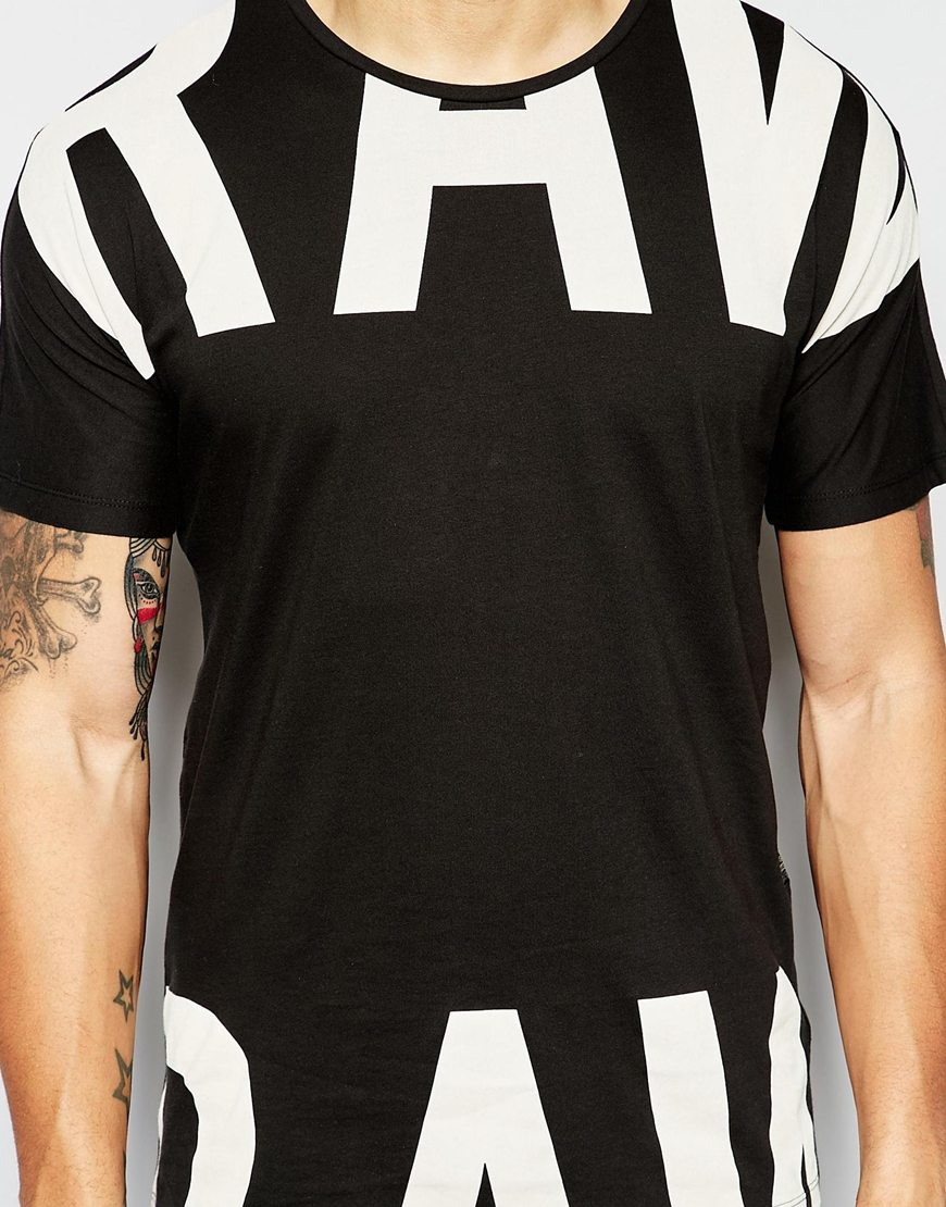 g star raw t shirt codar 1 crewneck large split logo in. Black Bedroom Furniture Sets. Home Design Ideas