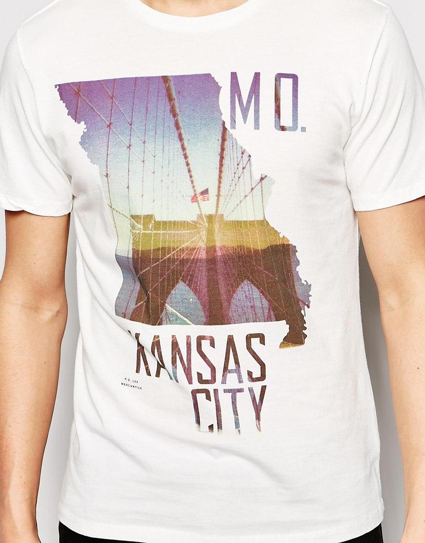 Lyst Lee Jeans T Shirt Kansas City Photo Print In White For Men