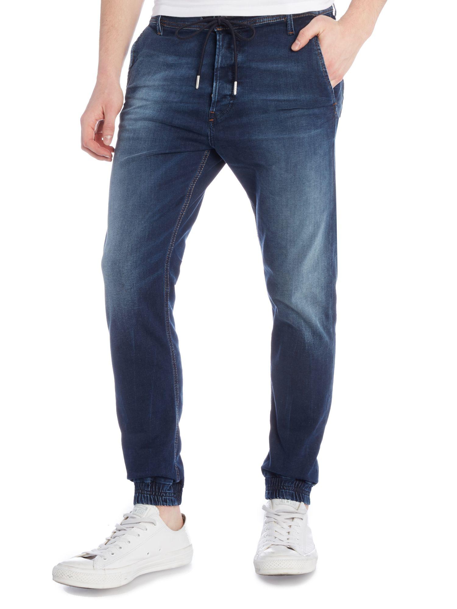 diesel duff 845s regular slim carrot jogg jeans in blue. Black Bedroom Furniture Sets. Home Design Ideas