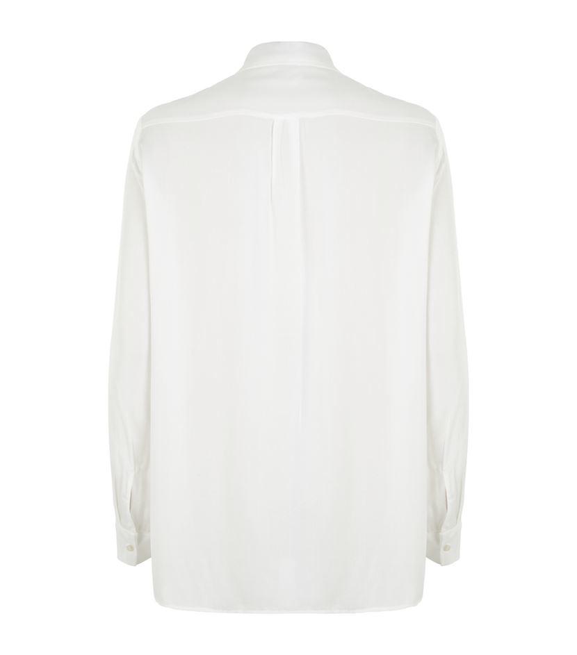 da5a4186cc2976 Maje Colette Tie Neck Shirt in White - Lyst