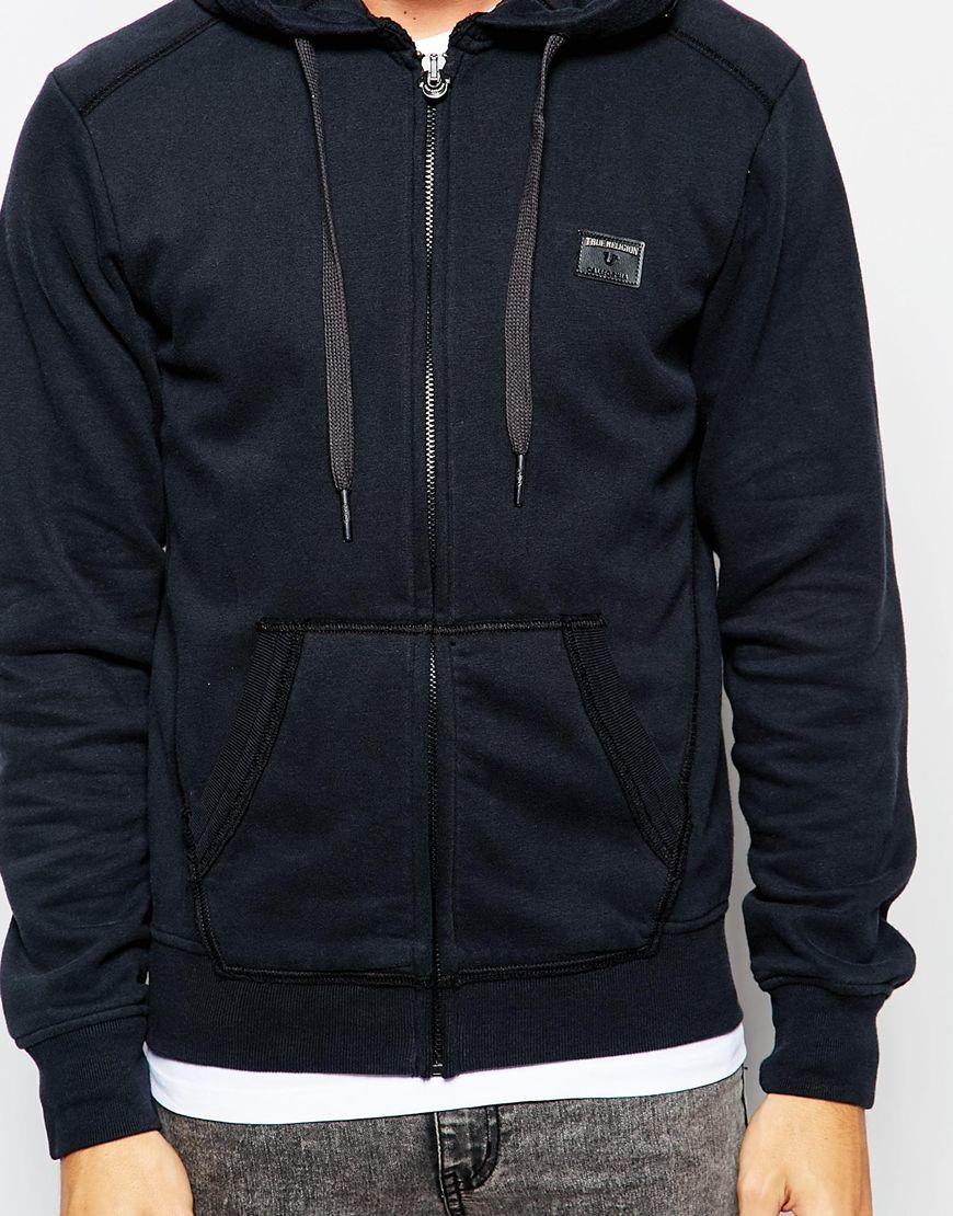 Lyst True Religion Hoodie In Black For Men