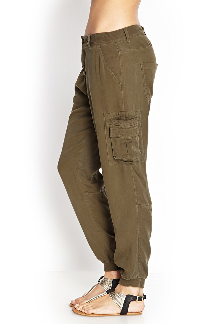 Create a fun casual look with capri pants in the cargo style. Style&co. and Ralph Lauren beautifully blend the capri style with cargo pants silhouettes. Choose a basic black or white pair of cargo pants for women or mix it up with a fun olive green. Paired with espadrilles, sandals .