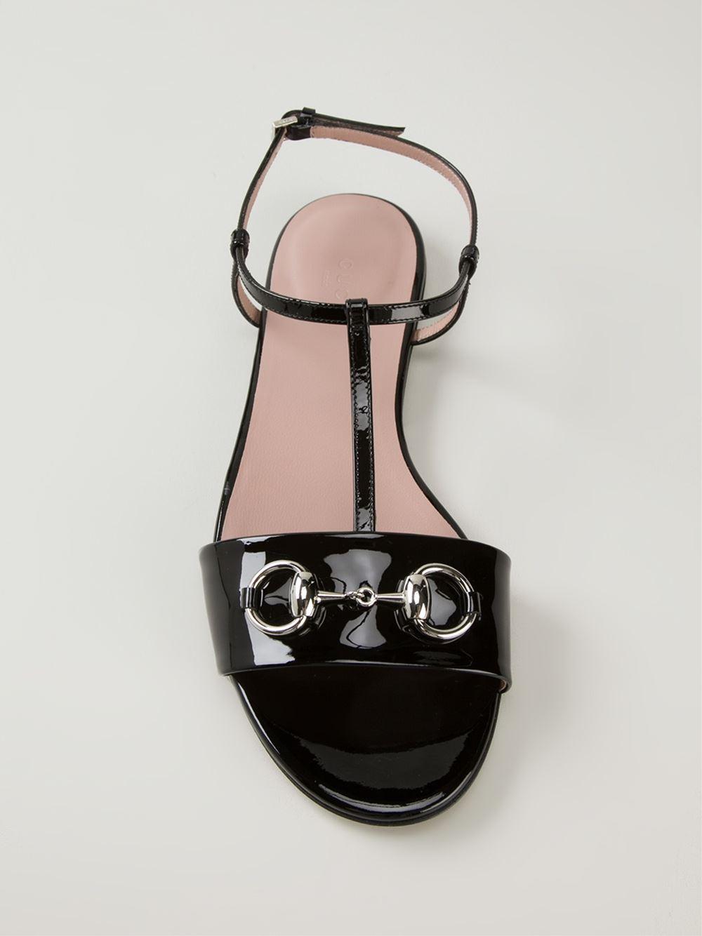 44d8d43c1d0 Lyst - Gucci Horsebit Sandals in Black