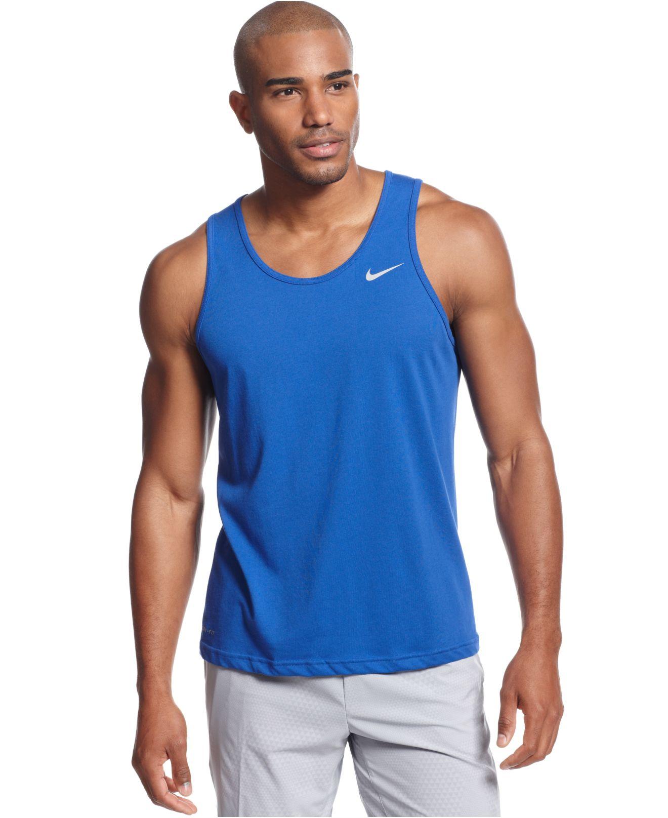 4810bd4cb6c662 Lyst - Nike Dri-Fit Tank in Blue for Men