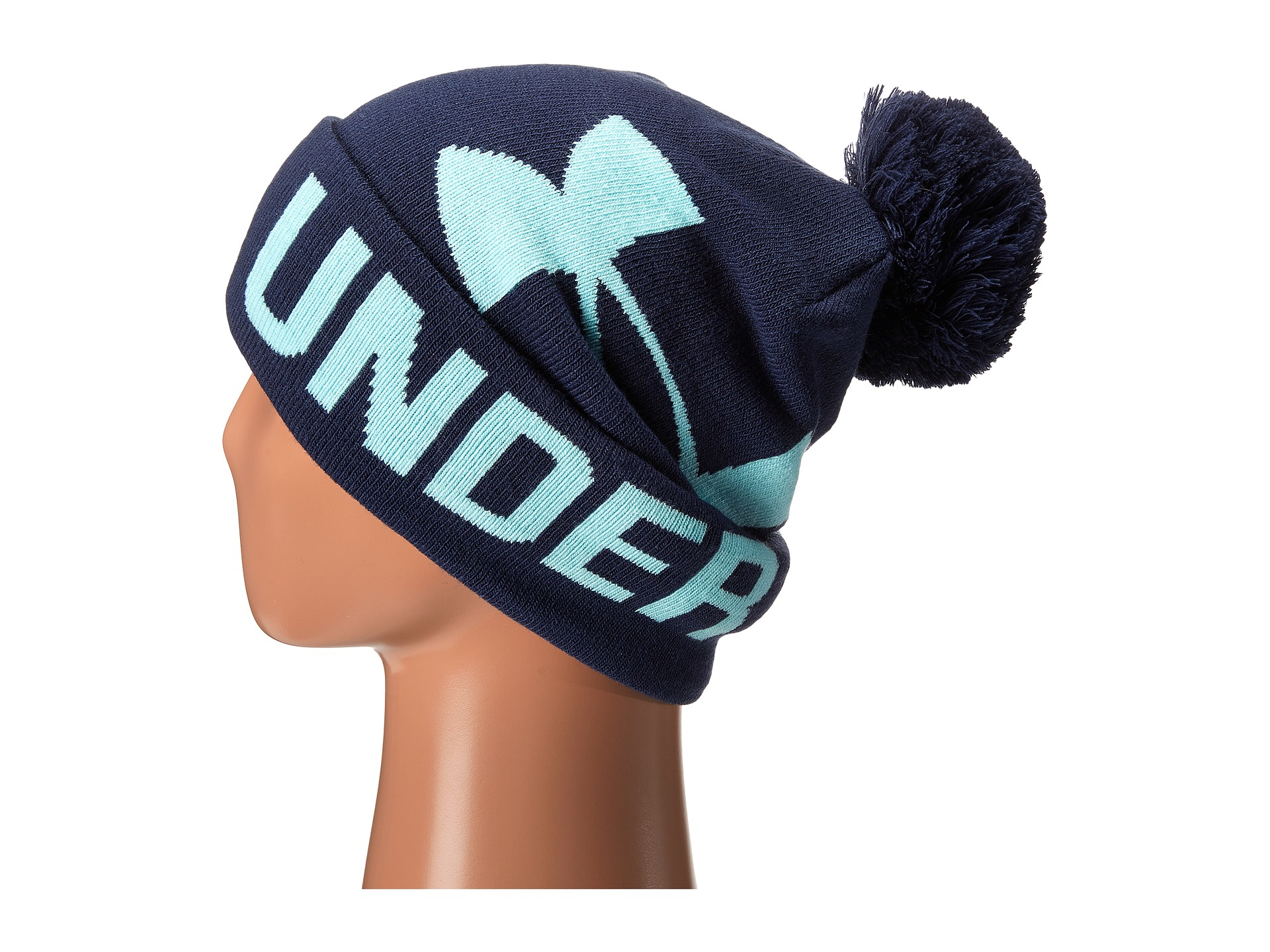 Lyst - Under Armour Ua Graphic Pom Pom Beanie in Blue 891ea2f84