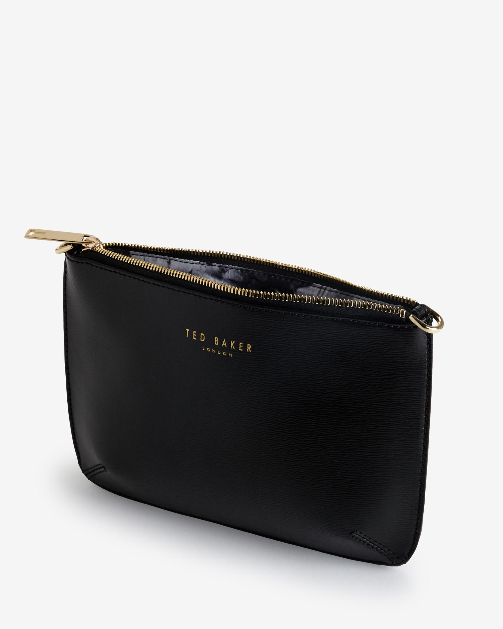 a10a3d7e22c60 Lyst - Ted Baker Crosshatch Clutch Bag in Black