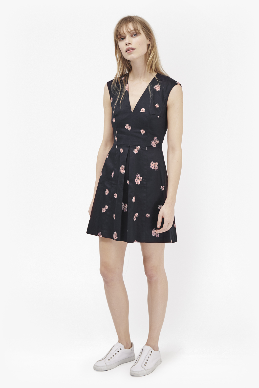 Lyst French Connection Samba Daisy Fit And Flare Dress