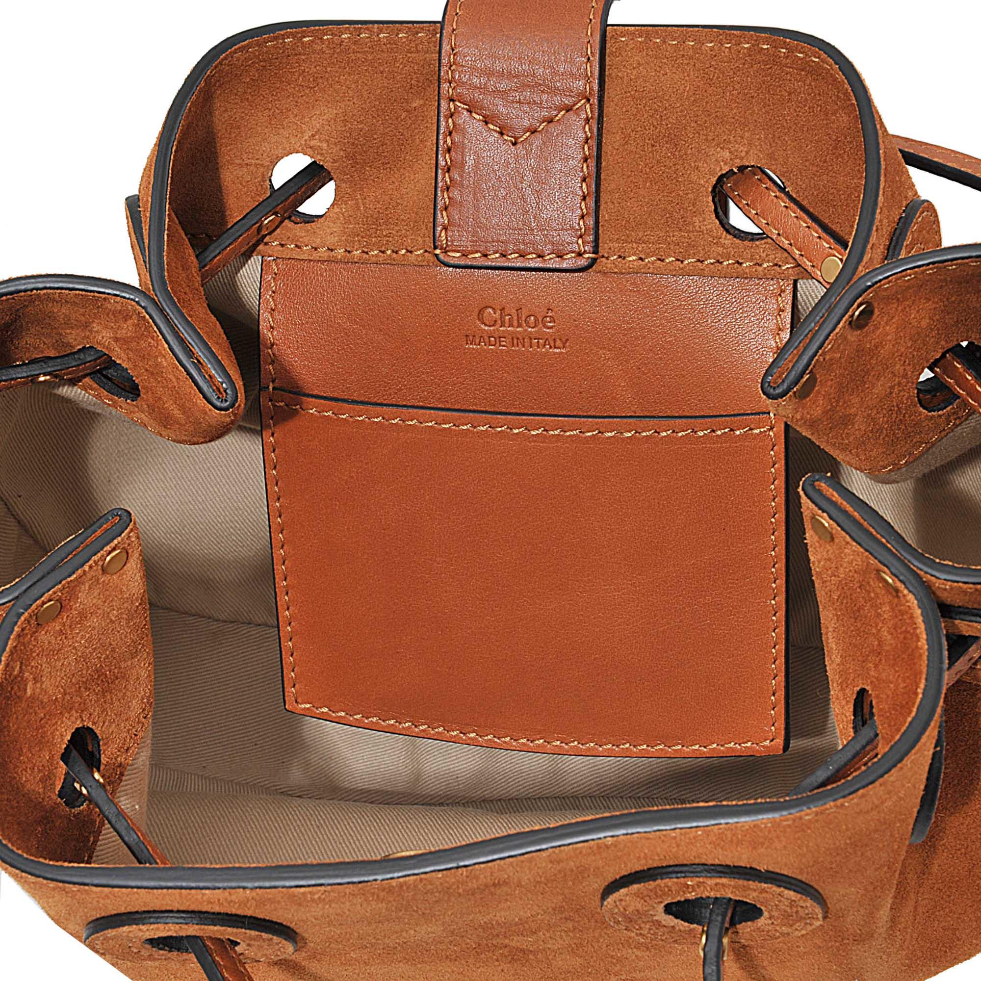 184dc63dec54 Lyst - Chloé Inez Small Drawstring Bag in Brown