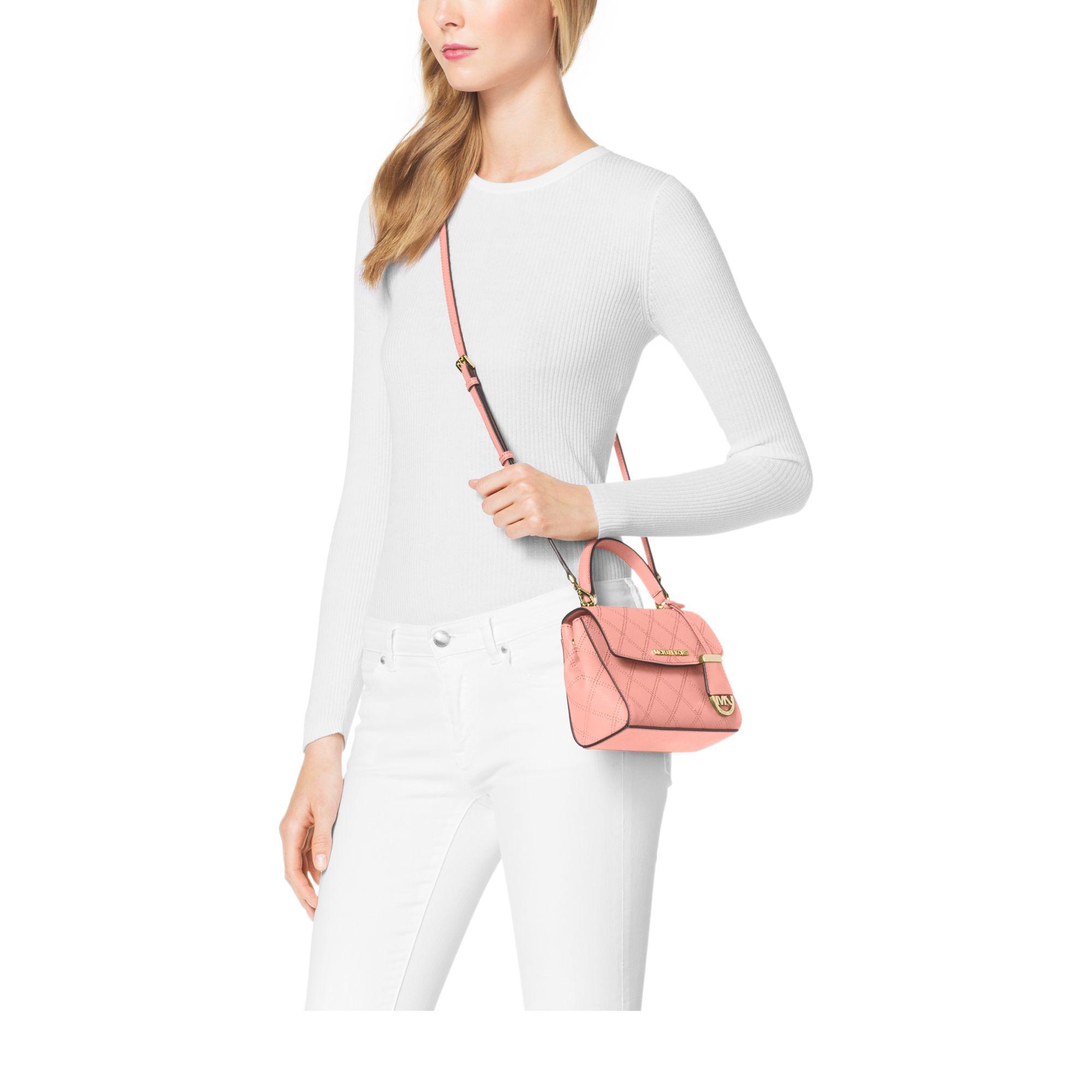 566dc594d809 germany lyst michael kors marlow small leather satchel in pink ebc9d bfe53;  store womens weekender bags womens michael kors . 5bd94 edb17