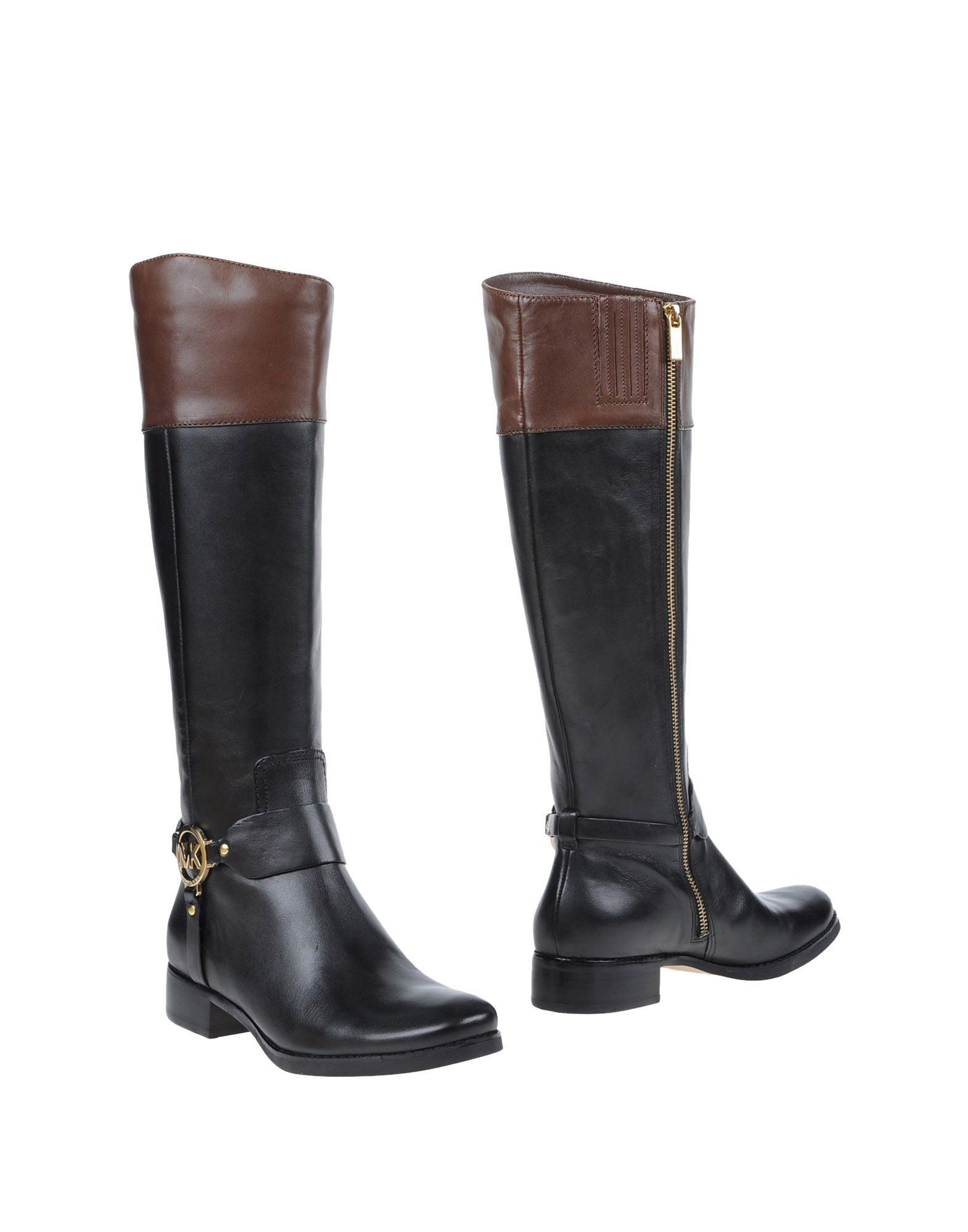 michael michael kors boots in black lyst