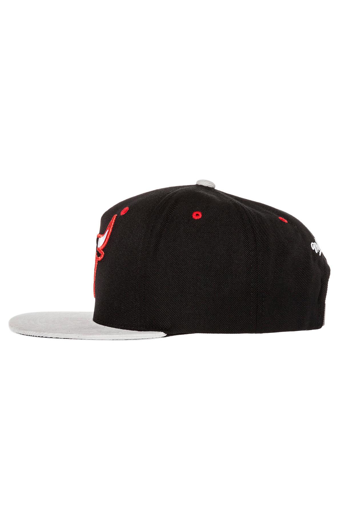 24b9a4afd2e Lyst - Mitchell   Ness The Chicago Bulls Grey Cord Visor Strapback ...