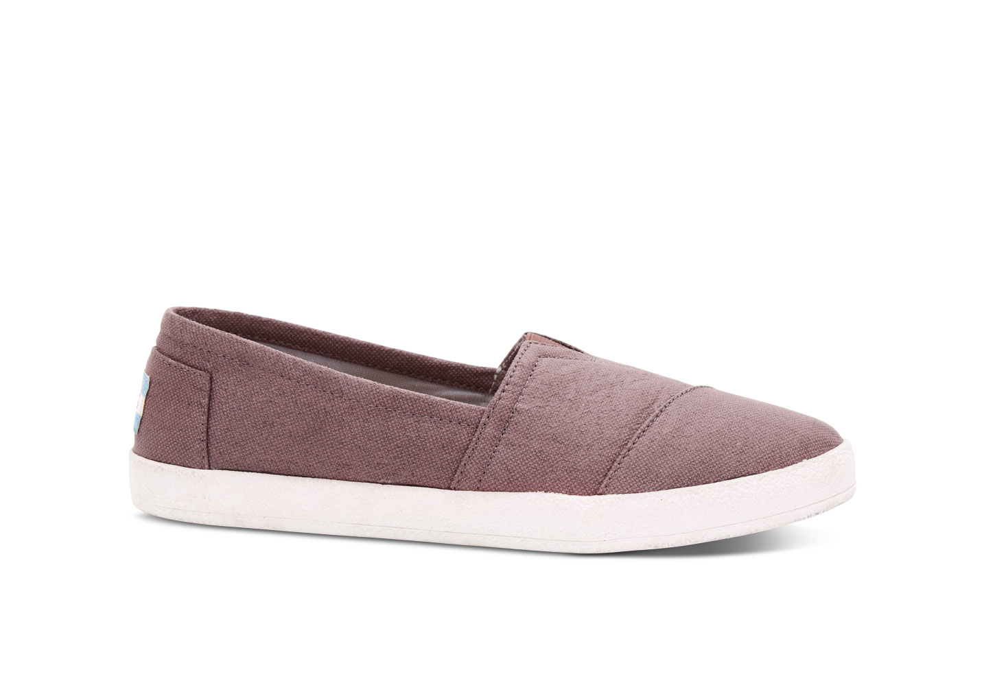 5eb325d50ef Lyst - TOMS Mauve Coated Canvas Women s Avalon Slip-ons in Purple