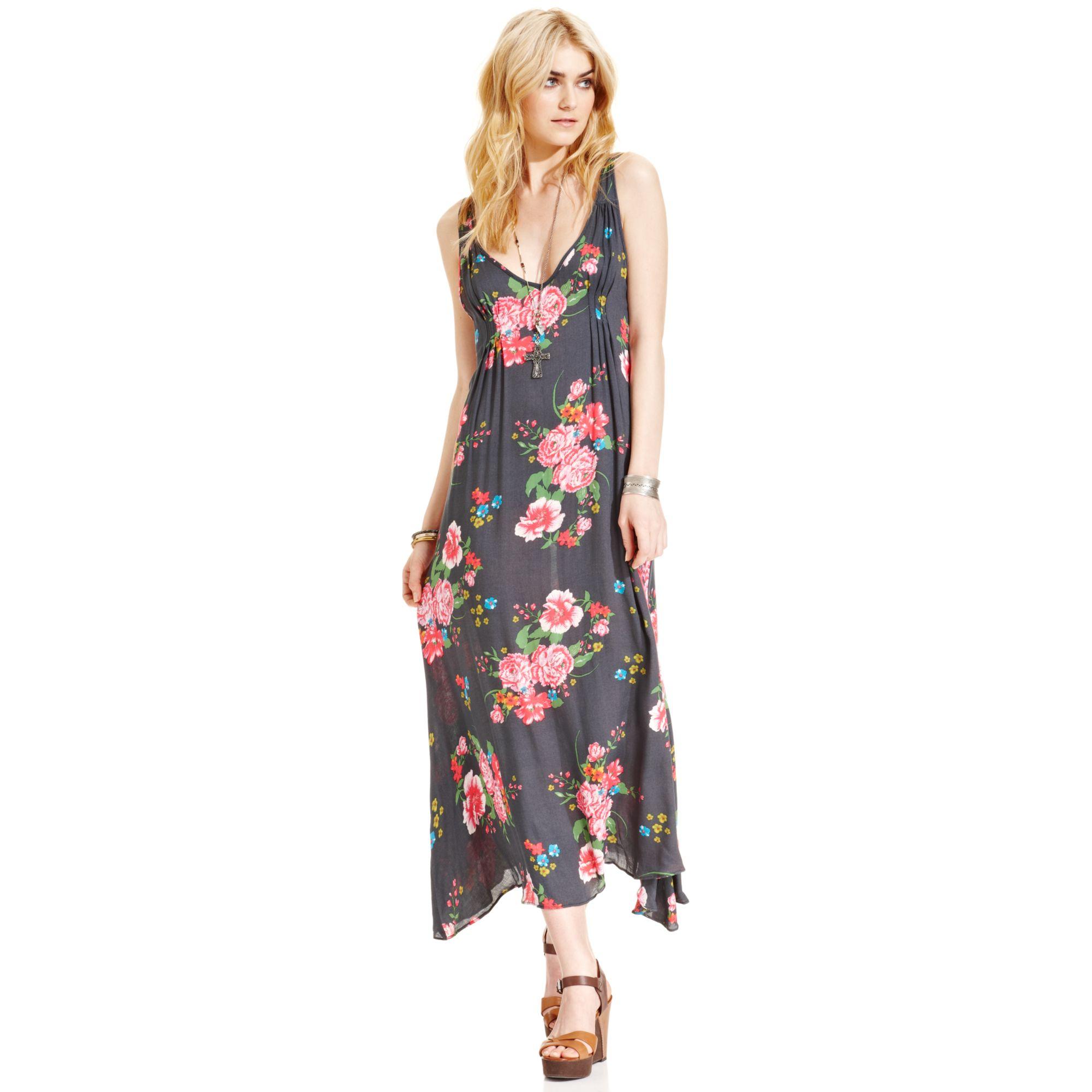Free people Floral-print Maxi Dress