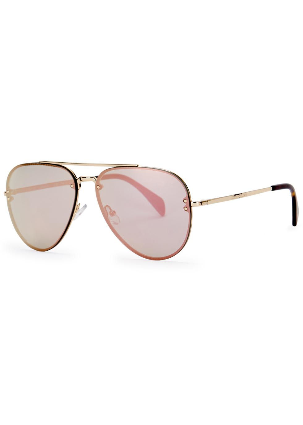 Celine Gold Frame Sunglasses : Celine Iridescent Aviator-style Sunglasses in Metallic for ...
