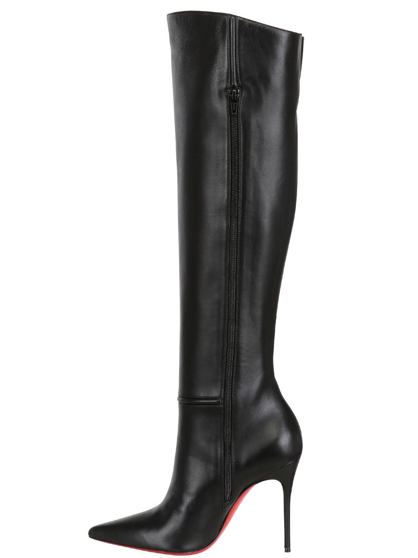 christian louboutin tall leather boots - Bavilon Salon