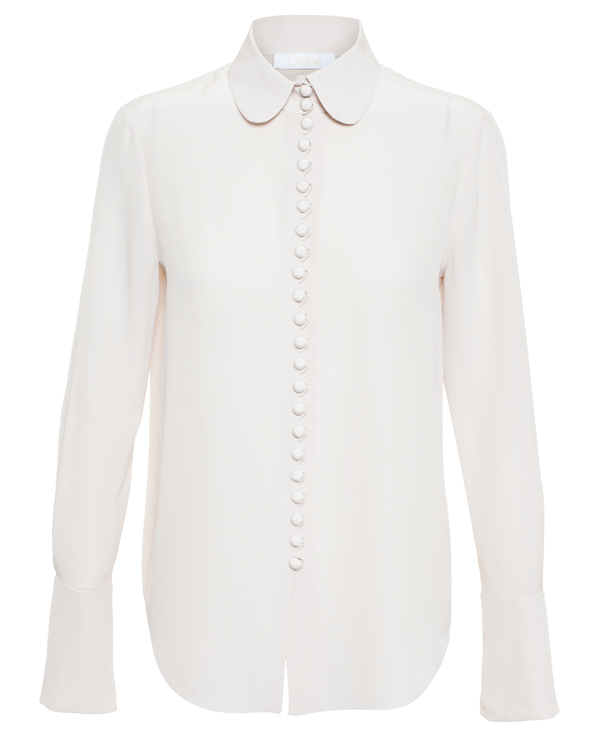 43035724b Chloé Button-down Blouse in Natural - Lyst