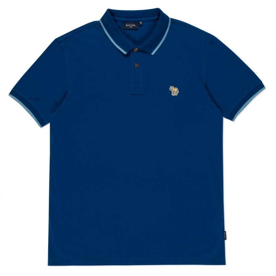 Lyst paul smith men 39 s blue zebra logo polo shirt with for Polo shirt logo design