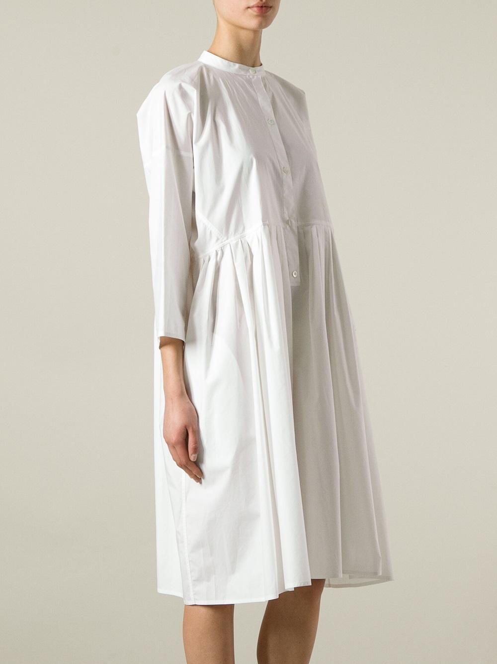 Sofie D Hoore Doksy Empire Line Dress In White Lyst
