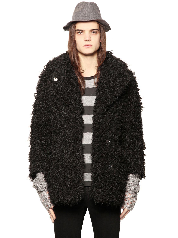 Cheap monday Faux Fur Coat in Black | Lyst