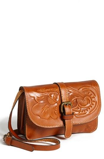 Patricia Nash Torri Embossed Leather Crossbody Bag In