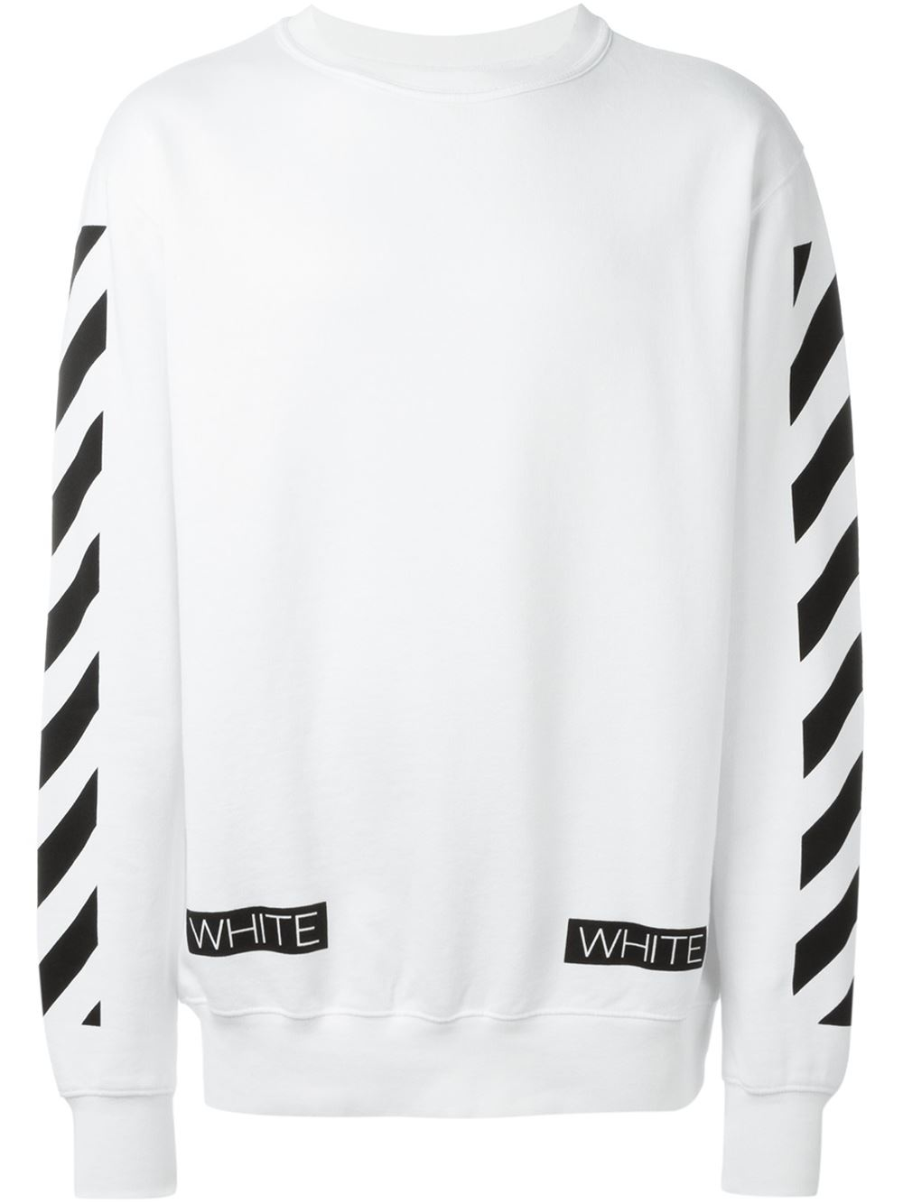 ed0bf7ad28ef Lyst - Off-White c o Virgil Abloh Crewneck Sweatshirt in Black for Men