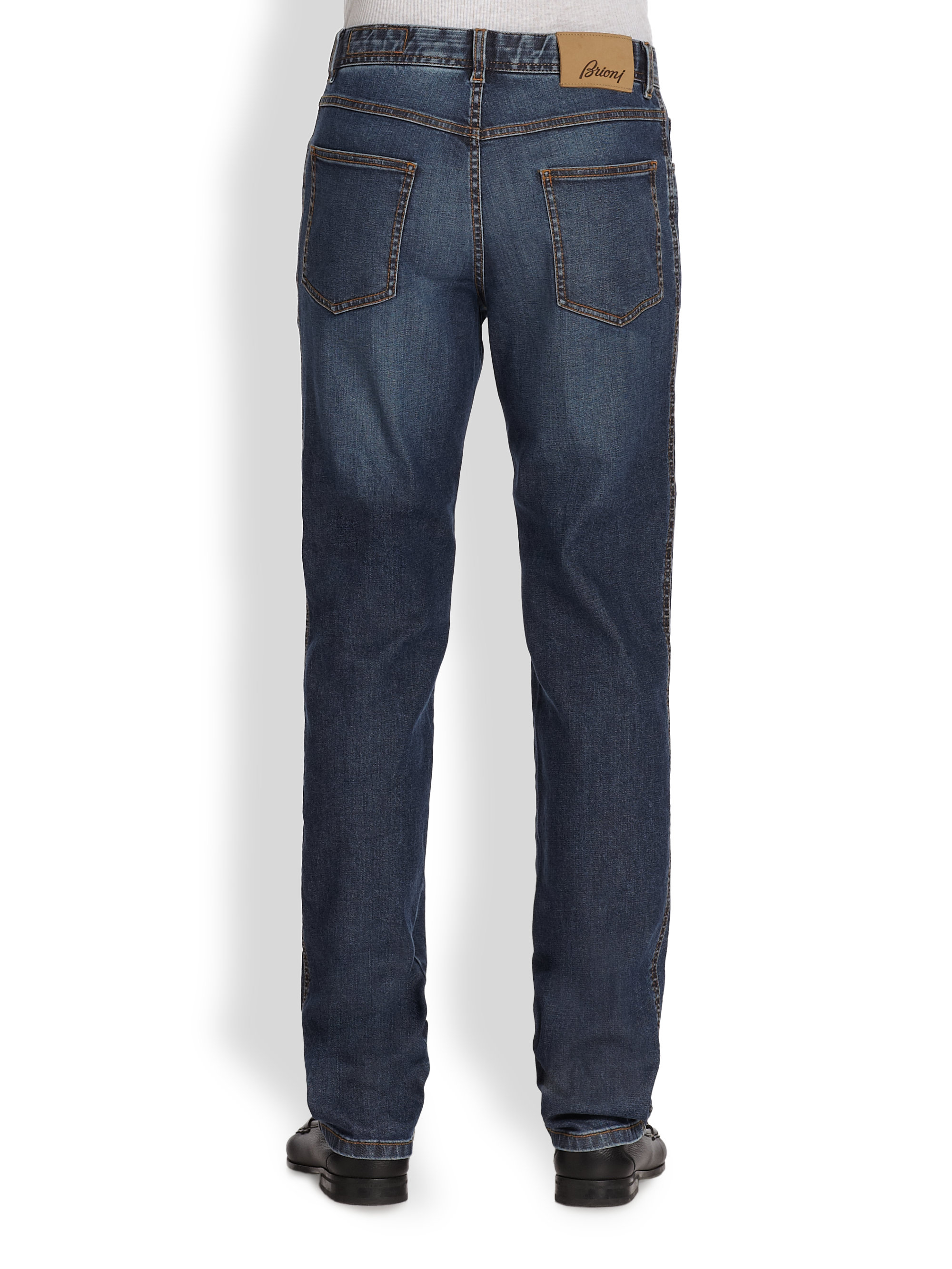 Lyst - Brioni Avanti Denim Jeans in Blue for Men