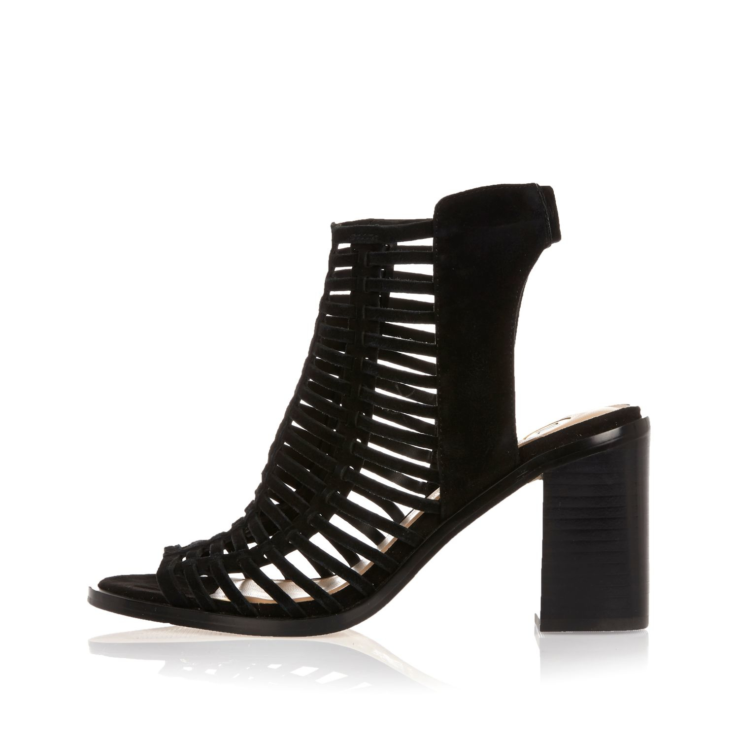 Strappy Caged Heels - Is Heel