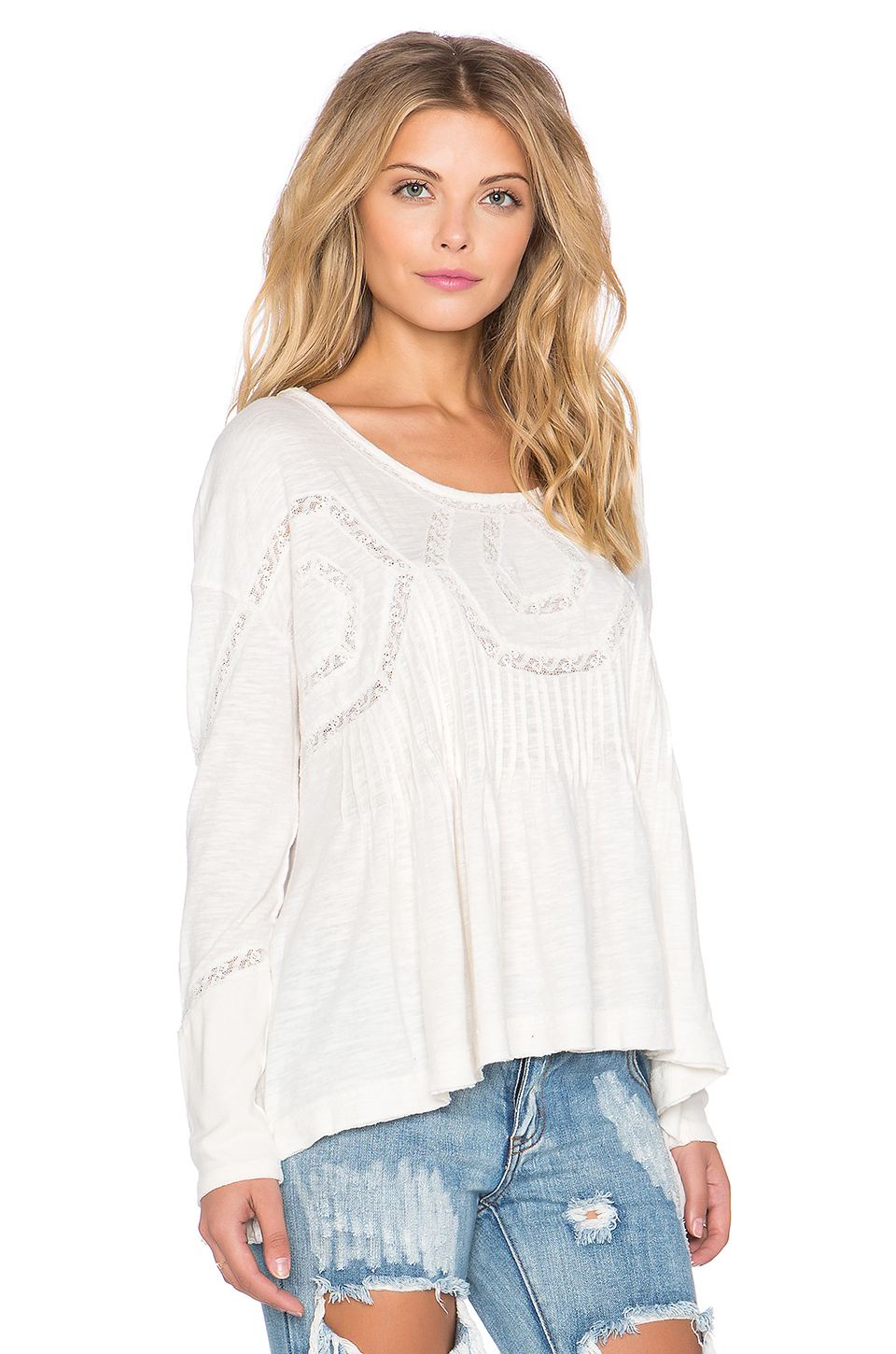 Lyst - Free People New Hope Babydoll Top In White-4954