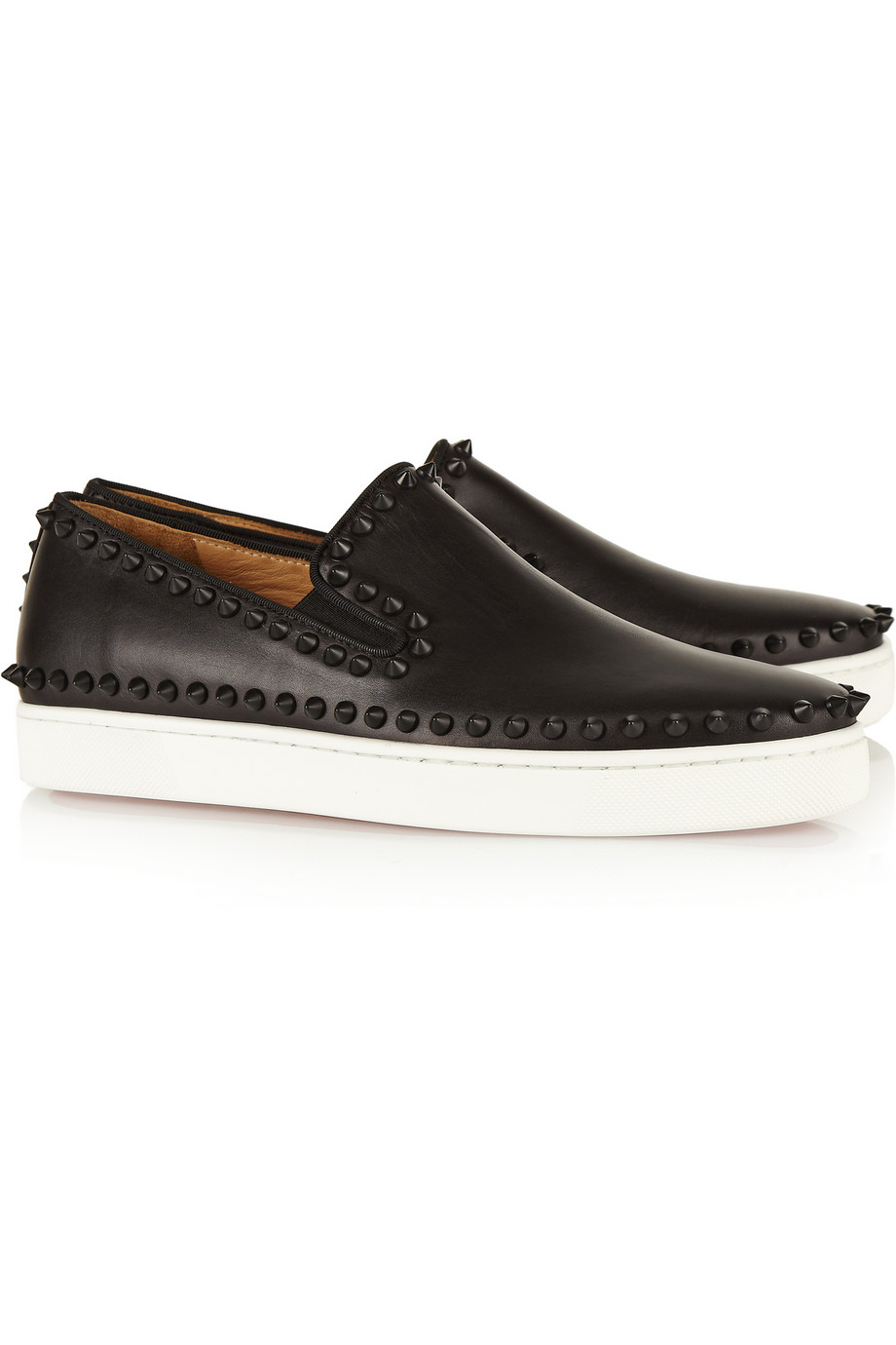White Studded Louboutin Shoes