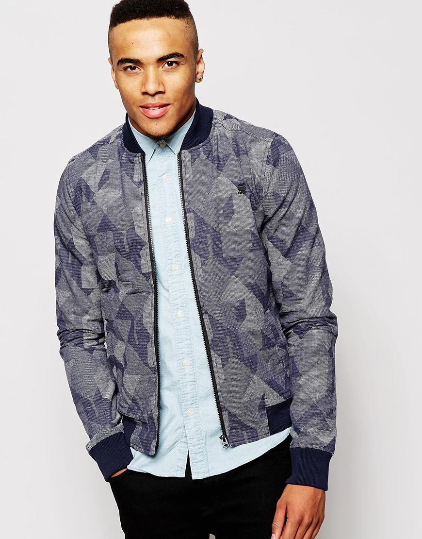 g star raw bomber jacket shattor g 13 stitch camo in black for men lyst. Black Bedroom Furniture Sets. Home Design Ideas