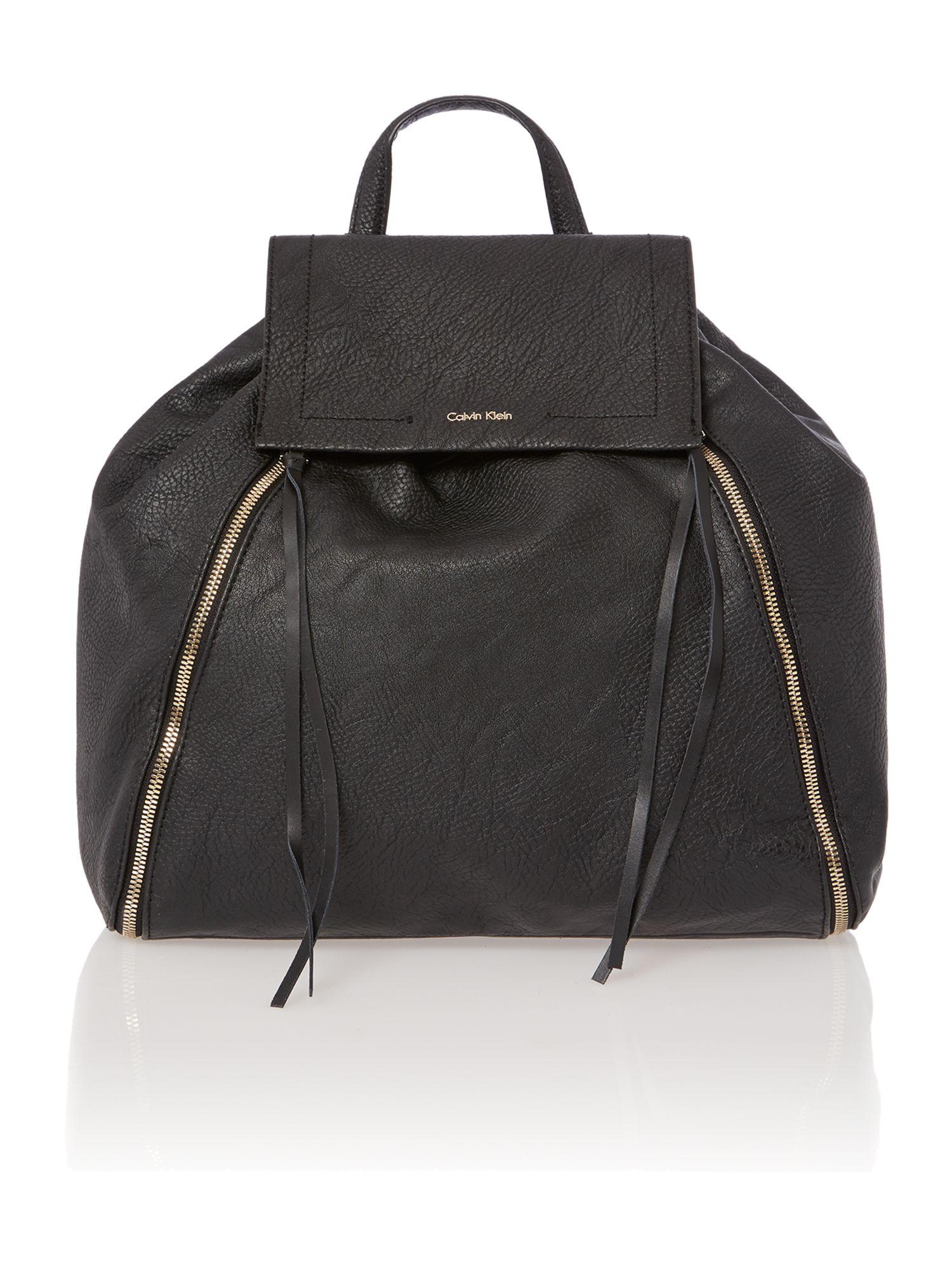 calvin klein izzy black backpack in black for men lyst. Black Bedroom Furniture Sets. Home Design Ideas