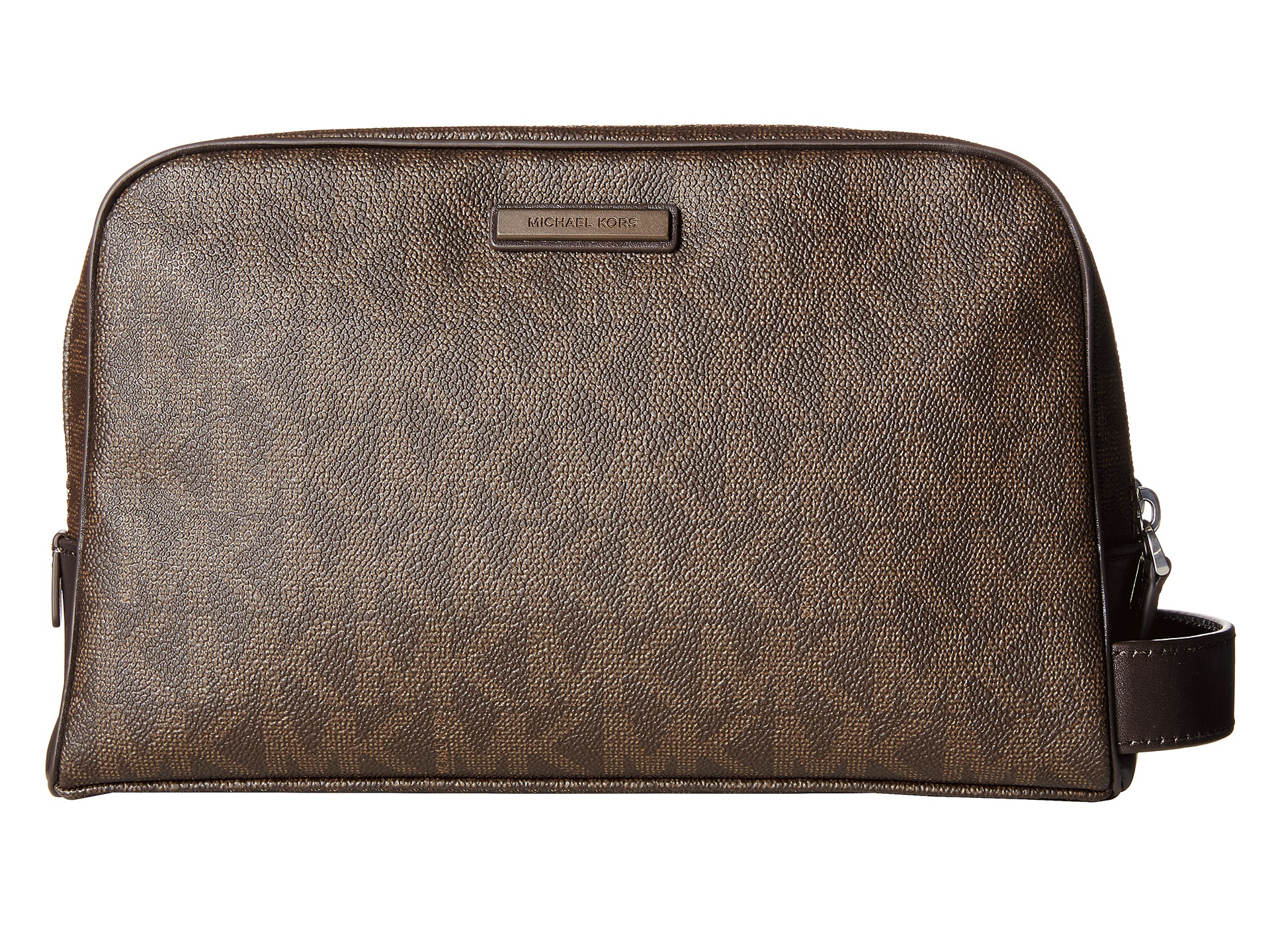 a90e54ac388a6 Lyst - Michael Kors Jet Set Travel Double Zip Toiletry Kit in Brown ...