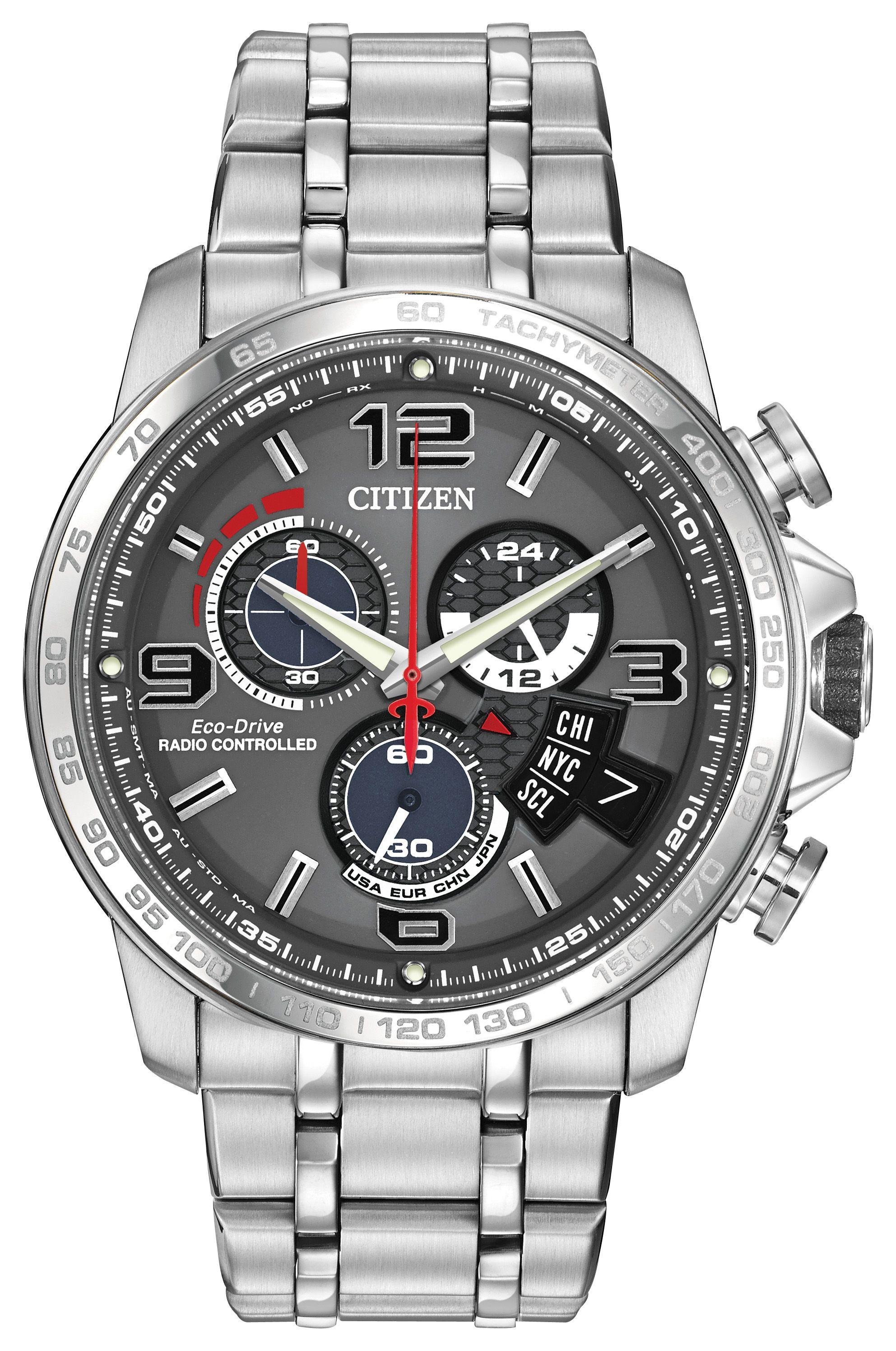 citizen by0100 51h mens silver bracelet watch in metallic for men gallery