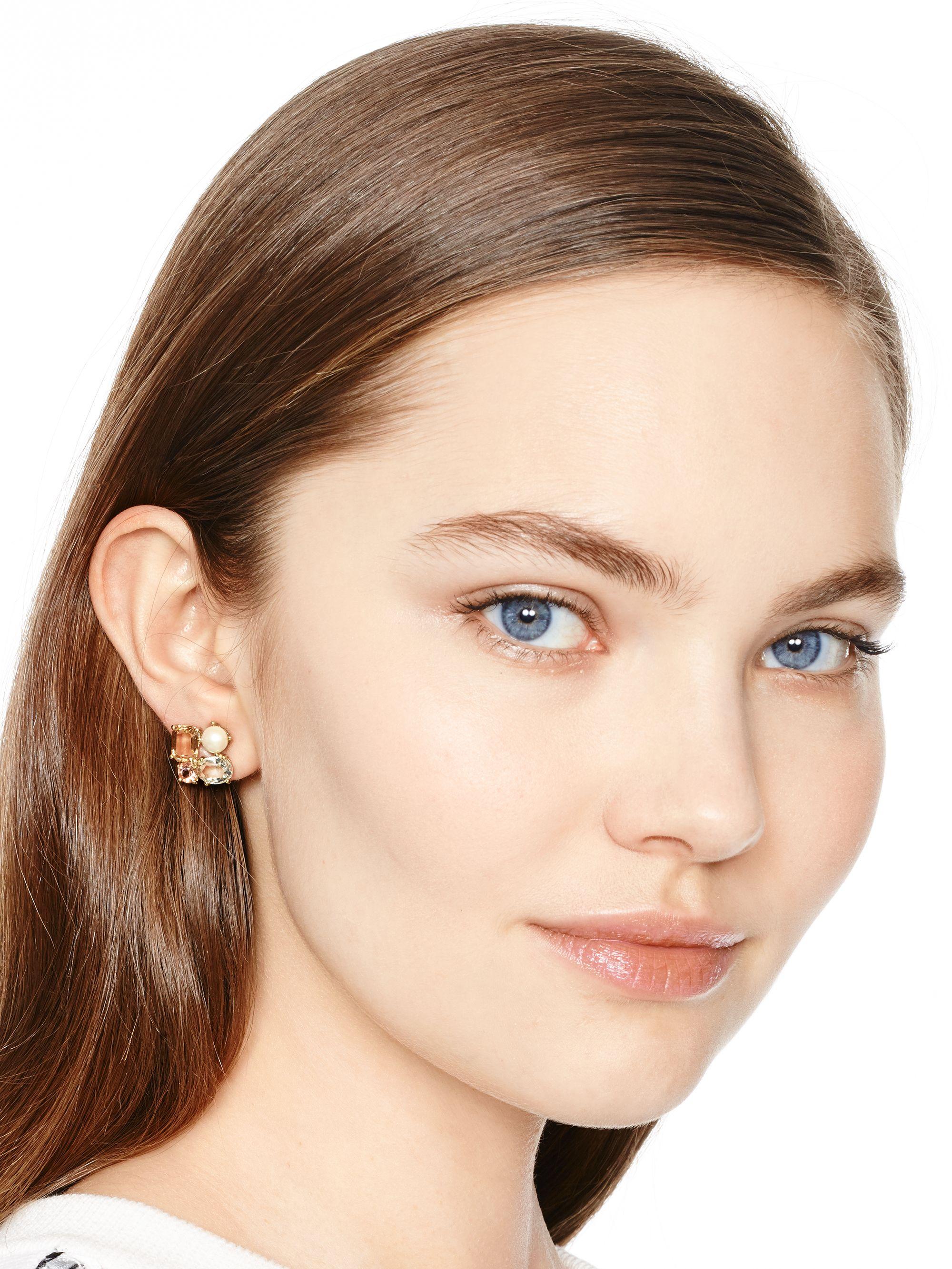 1288664347ebc Lyst - Kate Spade Kate Spade Cluster Earrings in Metallic