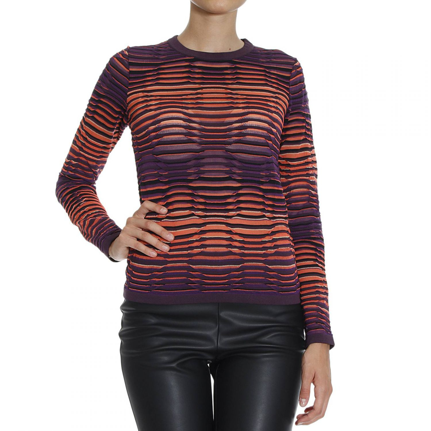 M Missoni Woman Metallic Open-knit Sweater Storm Blue Size S M Missoni Amazing Price For Sale Clearance Cheapest Price Cheap Sale Latest 2018 Cool Clearance Lowest Price fyV0B4tY7