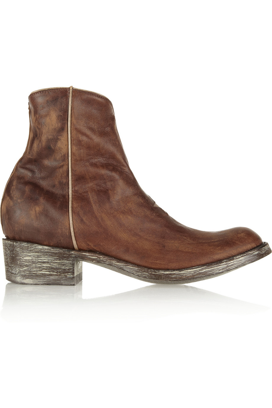mexicana distressed leather ankle boots lyst