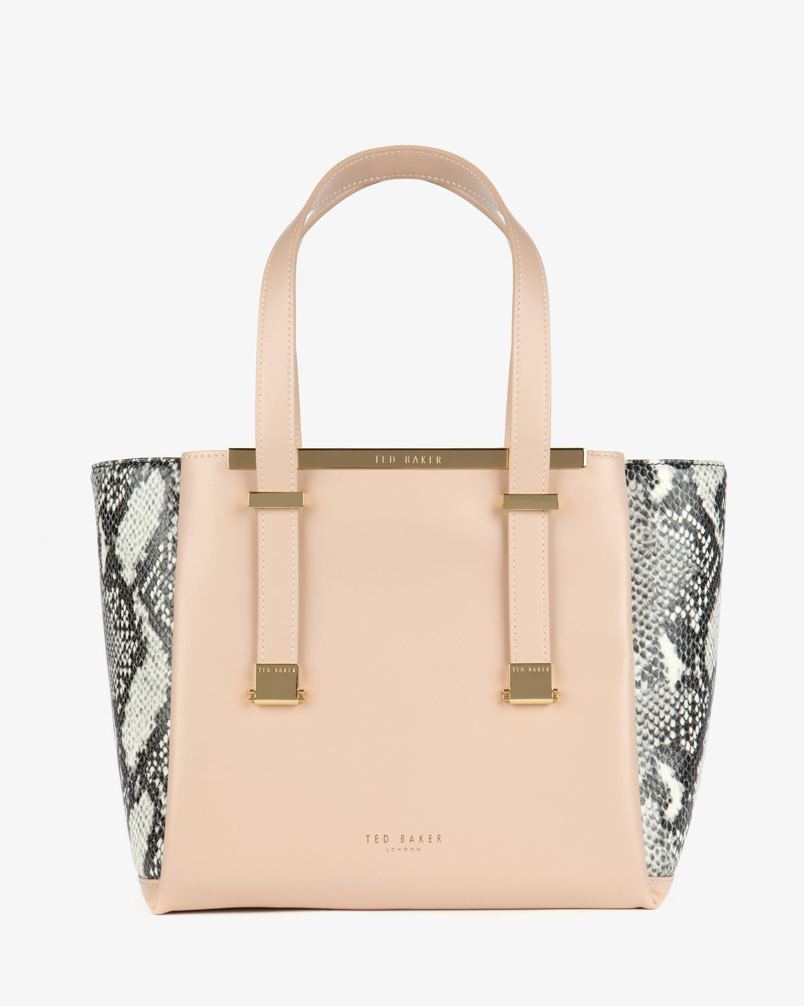 4a71834fe78 Ted Baker Exotic Leather Shopper Bag in Natural - Lyst