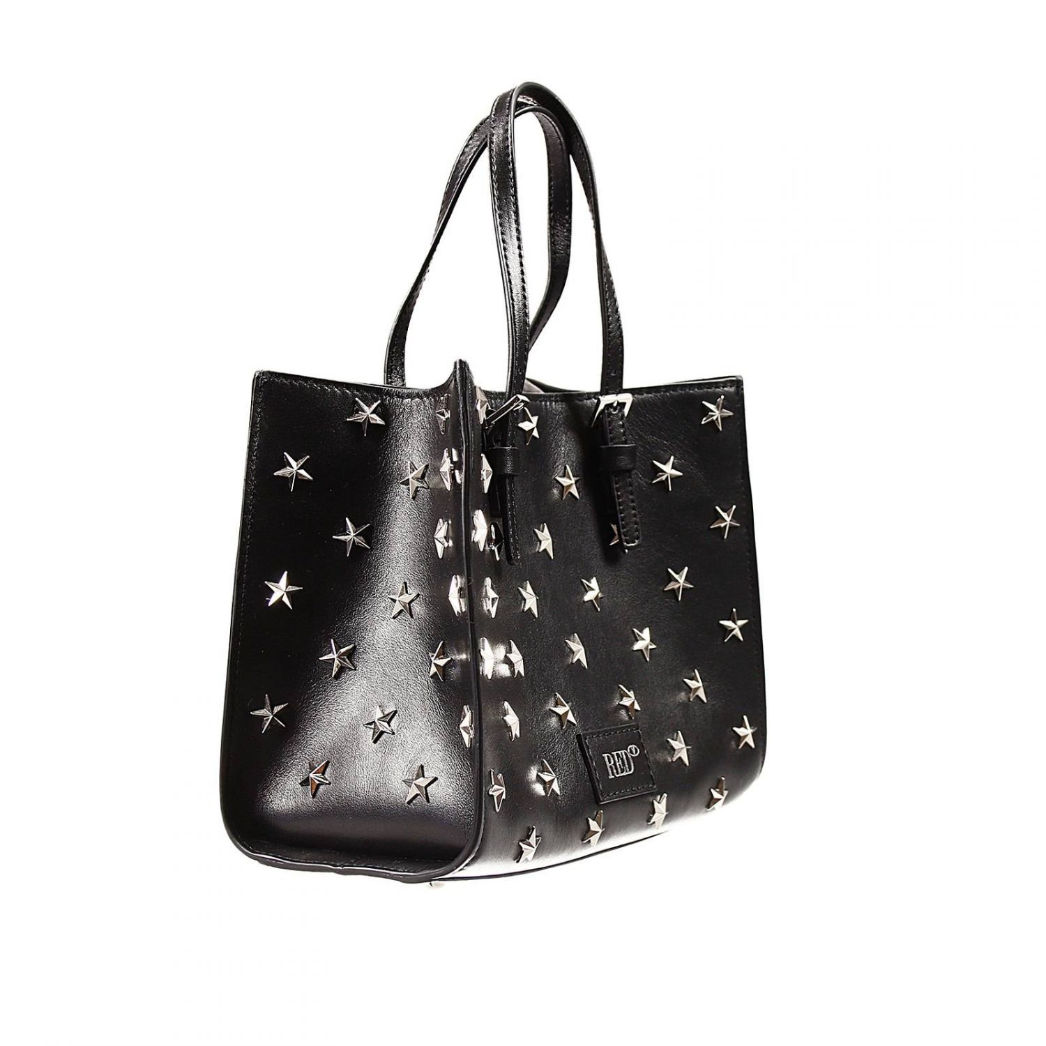Lyst - Valentino Handbag Bag Shopping Mini Shoulder Leather With Star Studs in Black