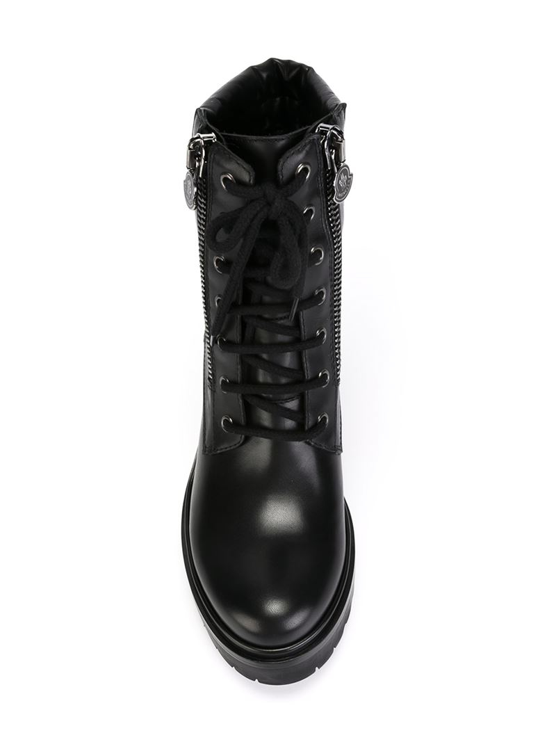 Moncler Viviane Ankle Boots In Black Lyst
