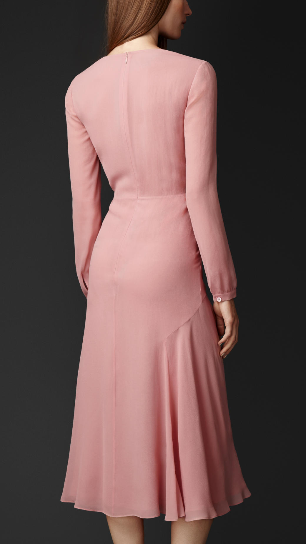 Lyst Burberry Layered Silk Dress In Pink