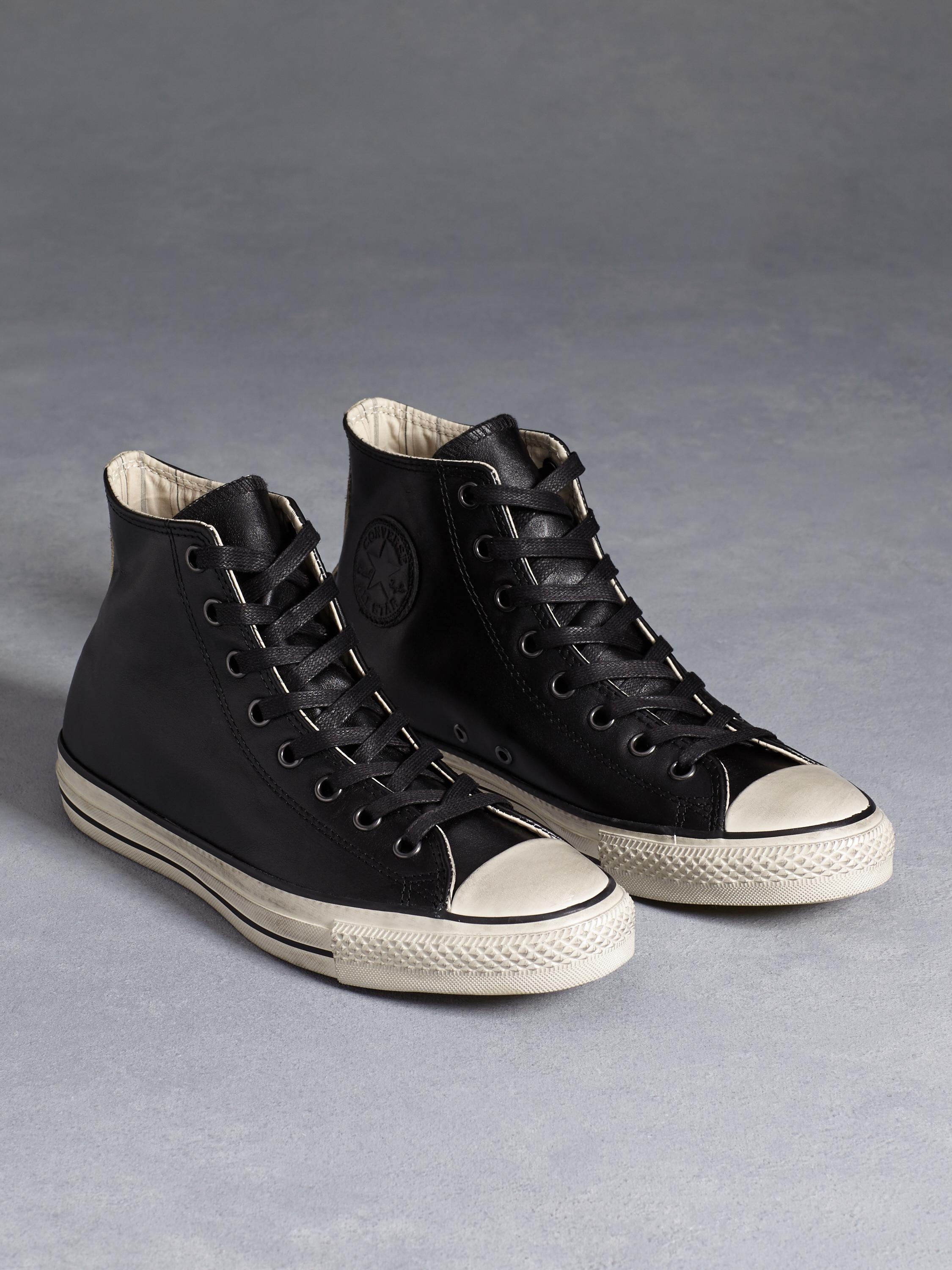 f25a2d9e284f Lyst - John Varvatos All Star Burnished Leather Chuck Taylor in Black for  Men
