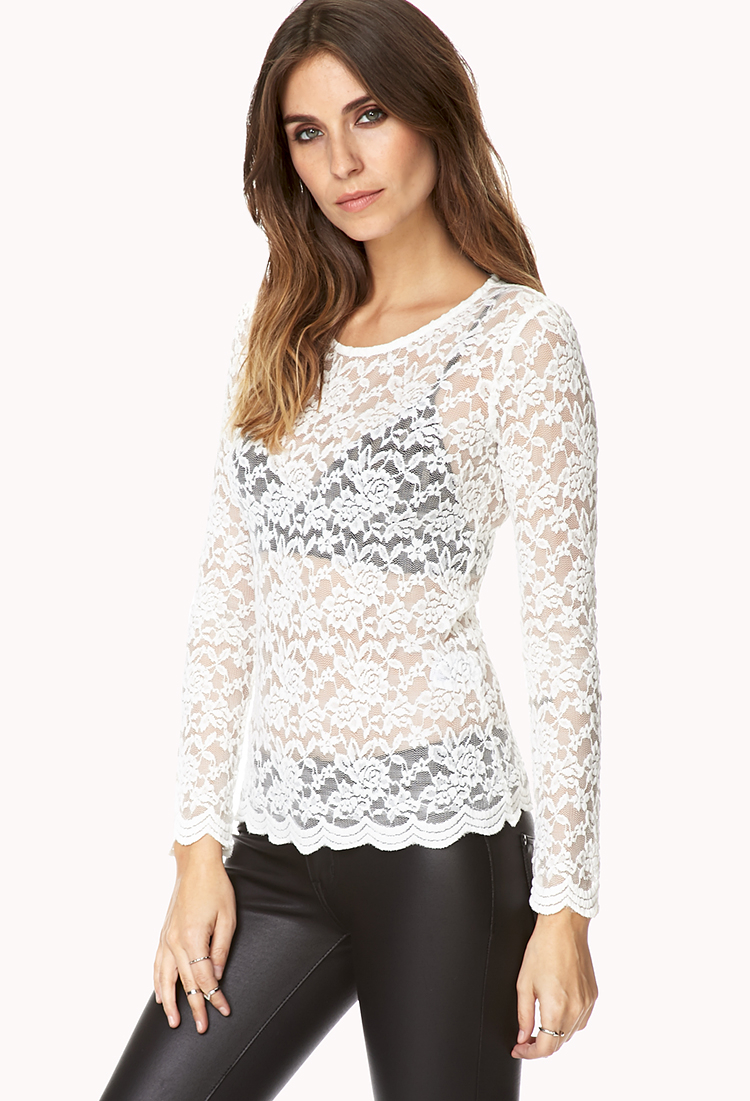 forever 21 darling floral lace top youve been added to