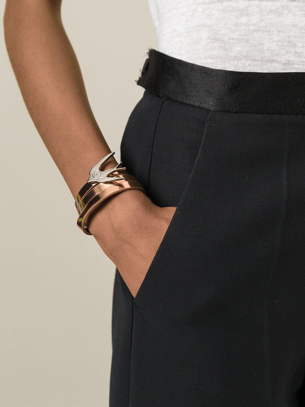 wrap around swallow bracelet - Black Alexander McQueen LdYBDIj