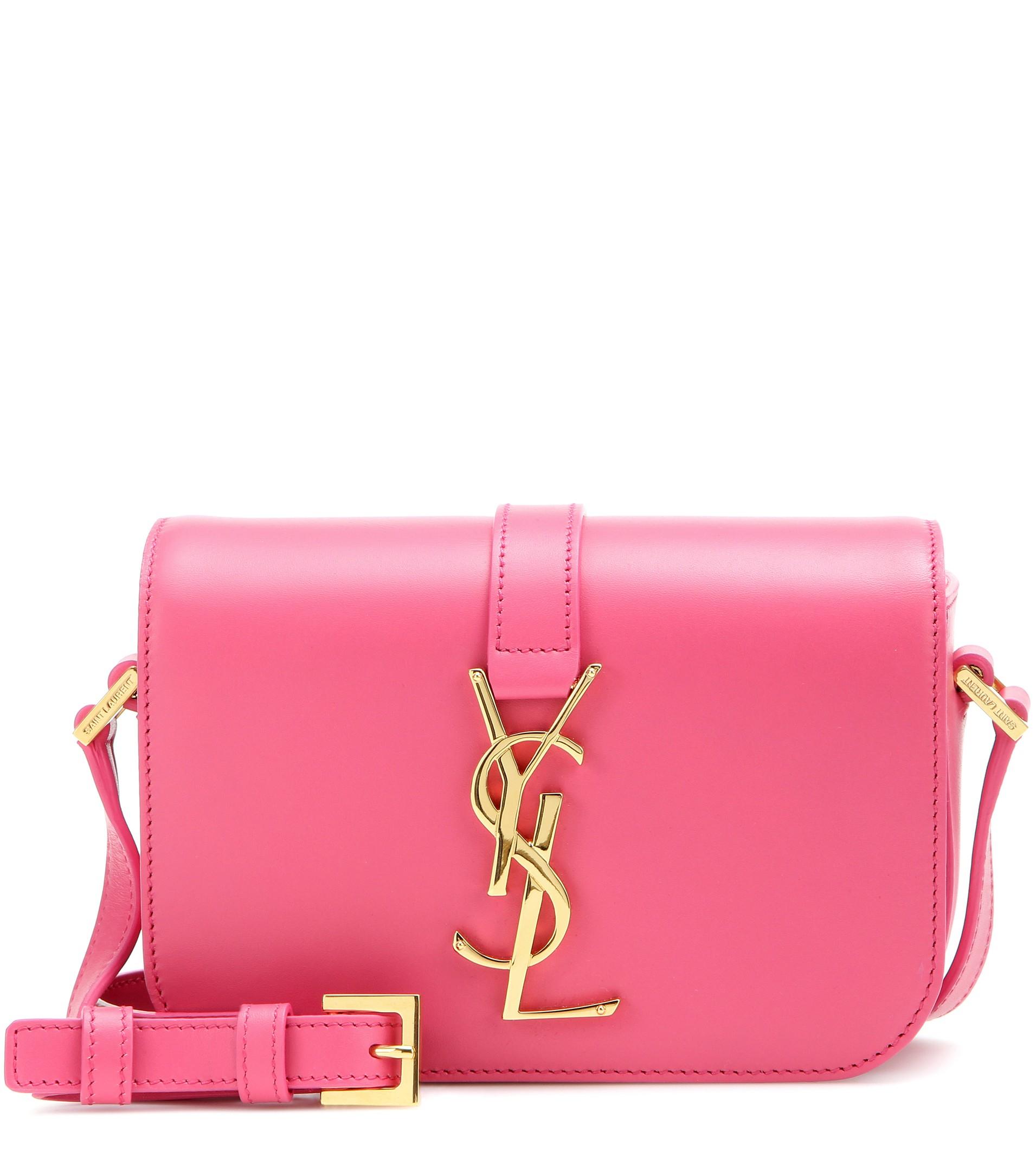 a2cc205cca282 Saint Laurent Monogram Université Small Leather Shoulder Bag in Pink ...