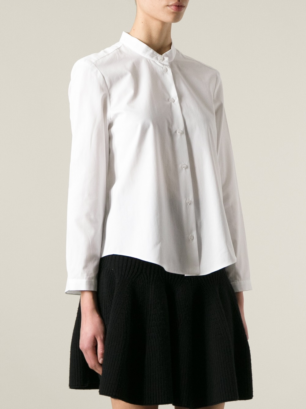 Lyst Cacharel Long Sleeve Shirt In White