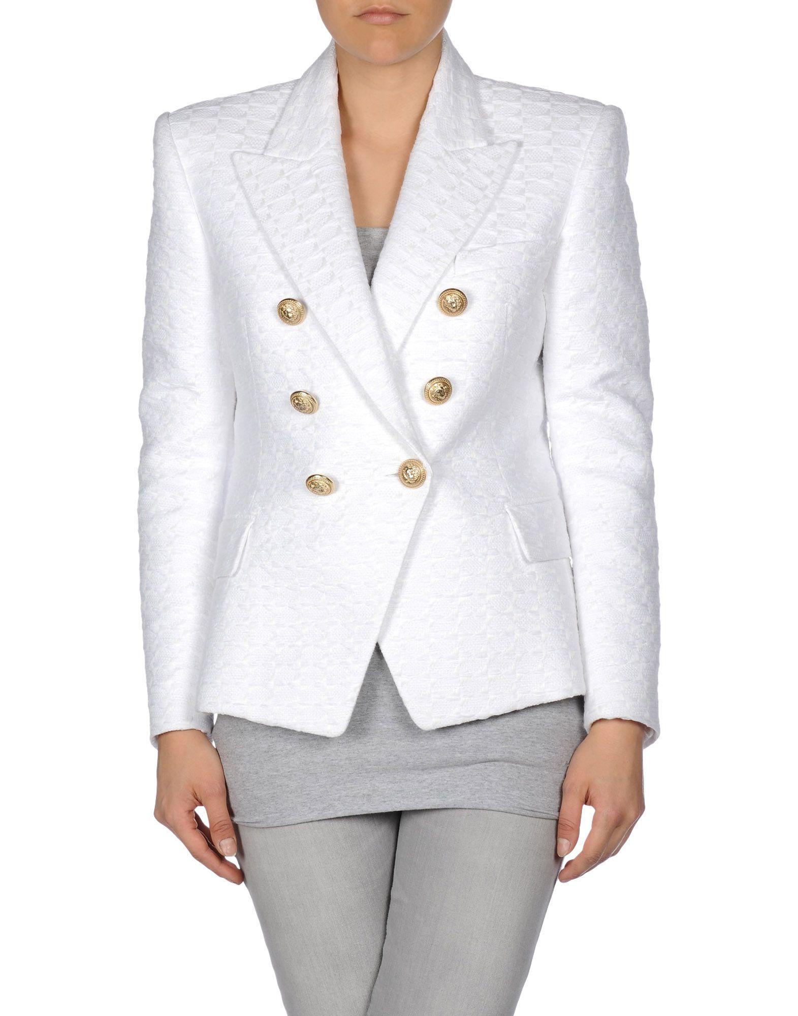 Lyst - Balmain Blazer In White