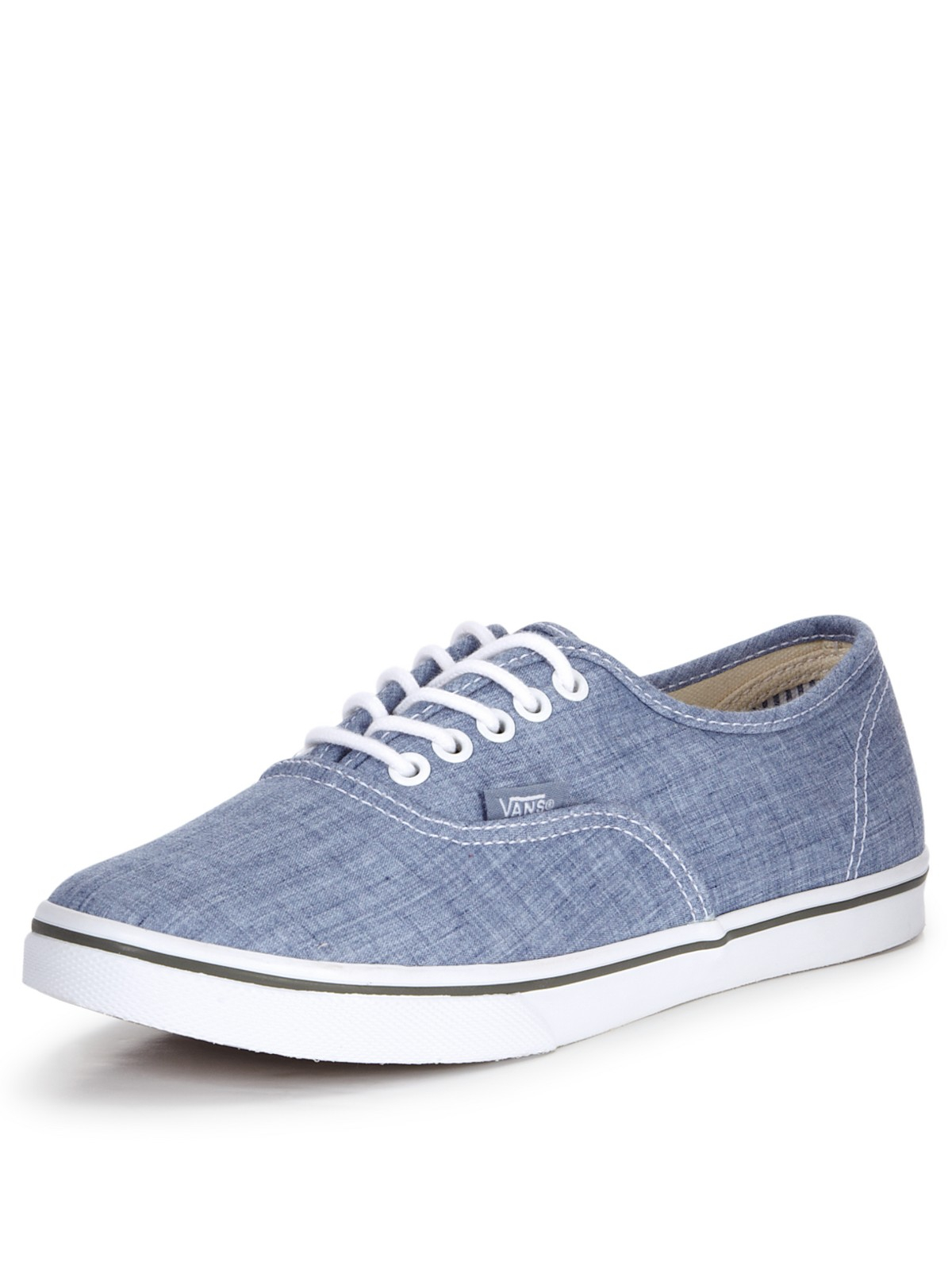 vans vans authentic lo pro chambray plimsolls in blue for. Black Bedroom Furniture Sets. Home Design Ideas