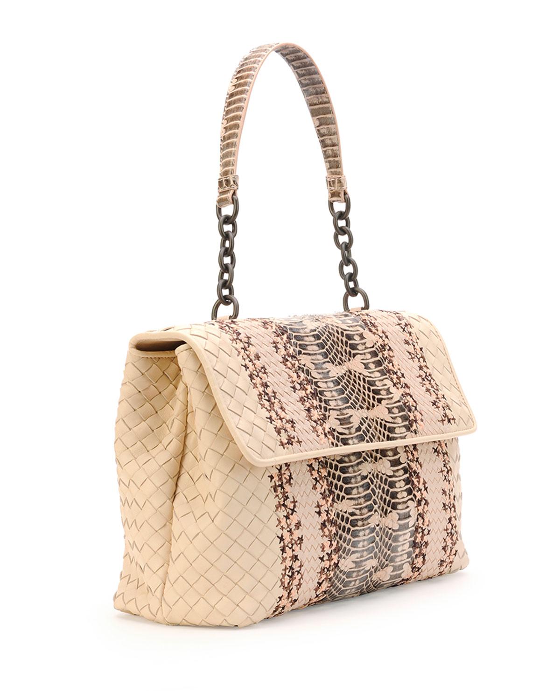 red chloe handbag - bottega veneta leather embellished shoulder bag, bottega online shop