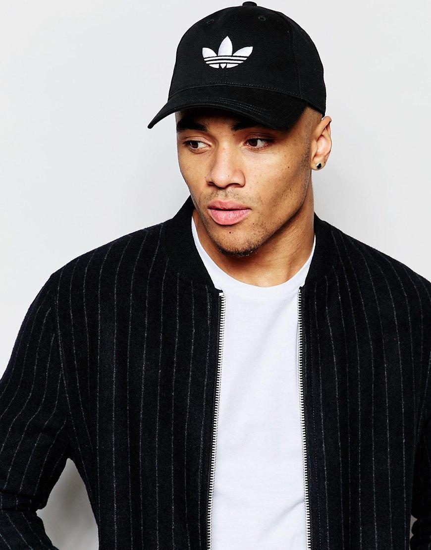 211bf40740f87 ... free shipping lyst adidas originals trefoil cap in black in black for  men 8d0eb 872e0