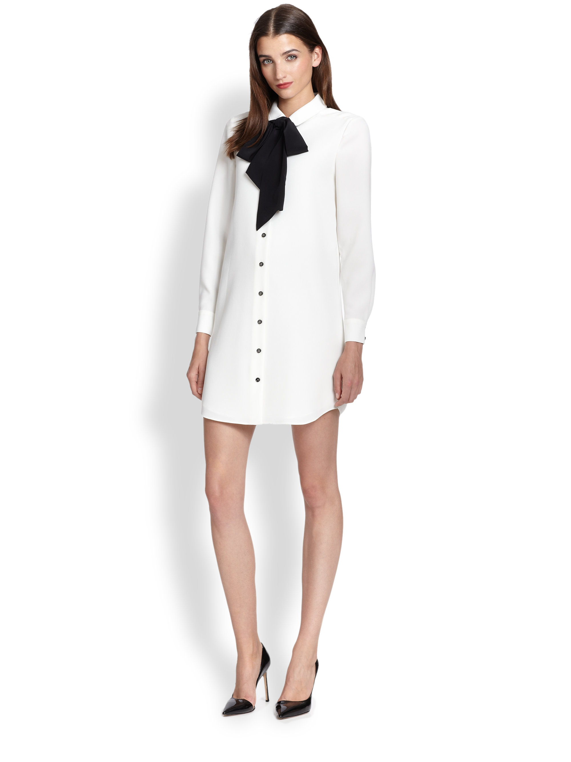 2517ecefa57 Kate Spade Griffin Dress in Natural - Lyst